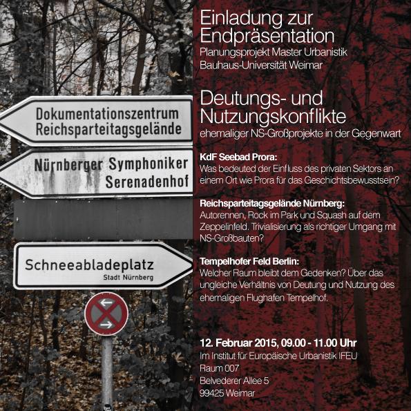 Einladung Präsentation Deutungs- und Nutzungskonflikte